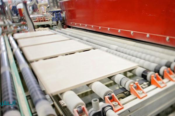 جت پرینتر کاشی و سرامیک در خط تولید نصب می شود